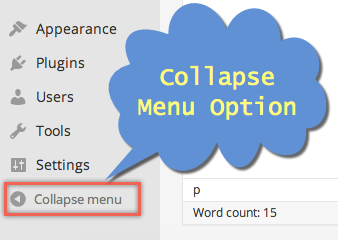 Collapse Menu Option in WordPress Editor