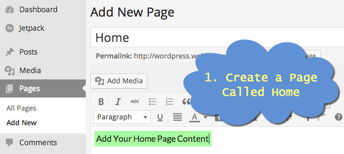 Create a Home Page