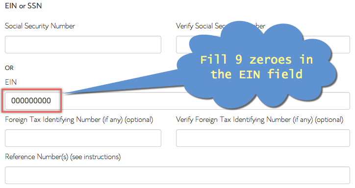 EIN in Bluehost Affiliate Tax Form