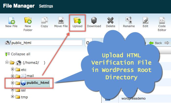 HTML File Upload in File Manager