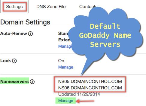 Управление серверами имен в GoDaddy