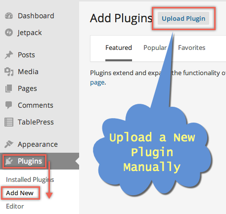 Manually Uploading Plugin in WordPress