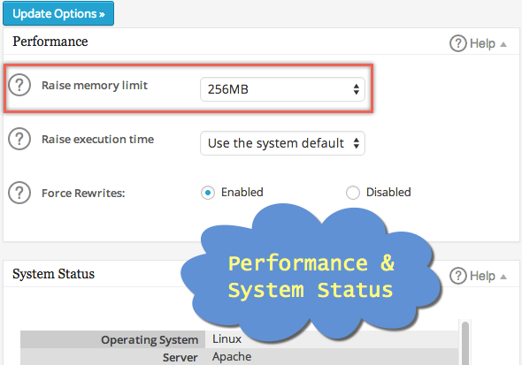 Performance and System Status