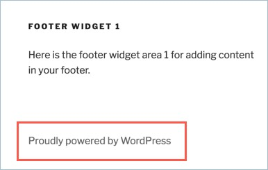 Proudly Powered By WordPress Footer