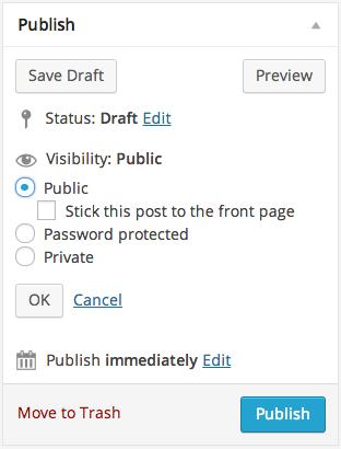 Publishing WordPress Post