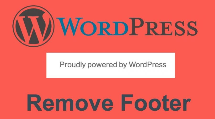 How to Remove Proudly Powered By WordPress Footer?