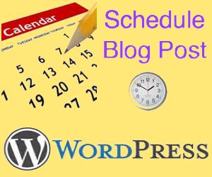 Scheduling WordPress Blog Post