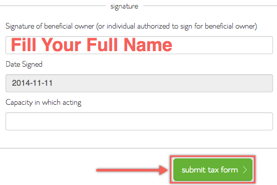 Sign and Submit Bluehost Affiliate Tax Form