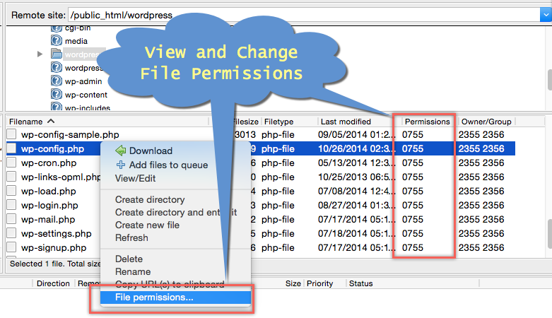 View and Change File Permissions