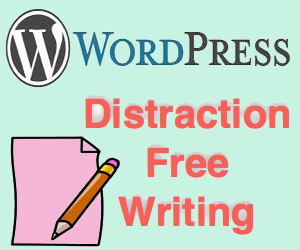 WordPress Distraction Free Writing Options