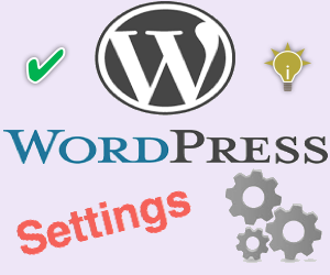 WordPress Admin Panel Settings Menu Options