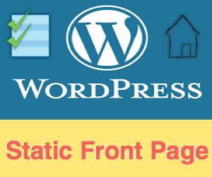 WordPress Static Home Page