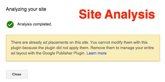 Плагин AdSense Анализ сайта