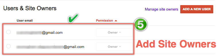 Adding Site Owners in Google Webmaster Tools
