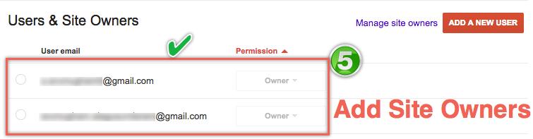 Добавление владельцев сайтов в Инструменты Google для веб-мастеров