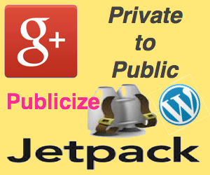 Change Private to Public Google+ Sharing in Publicize