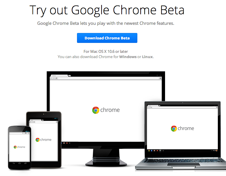Download Google Chrome Beta