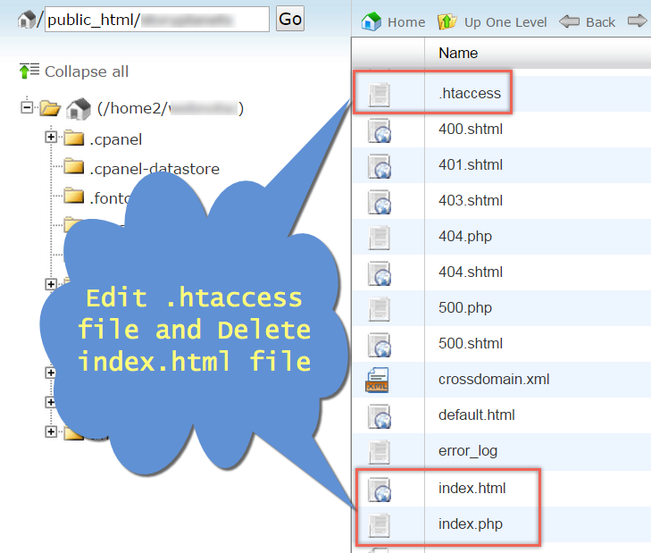 Editing Files in Bluehost File Manager