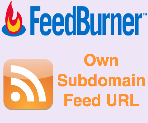 Feedburner Feed on Own Custom Subdomain URL