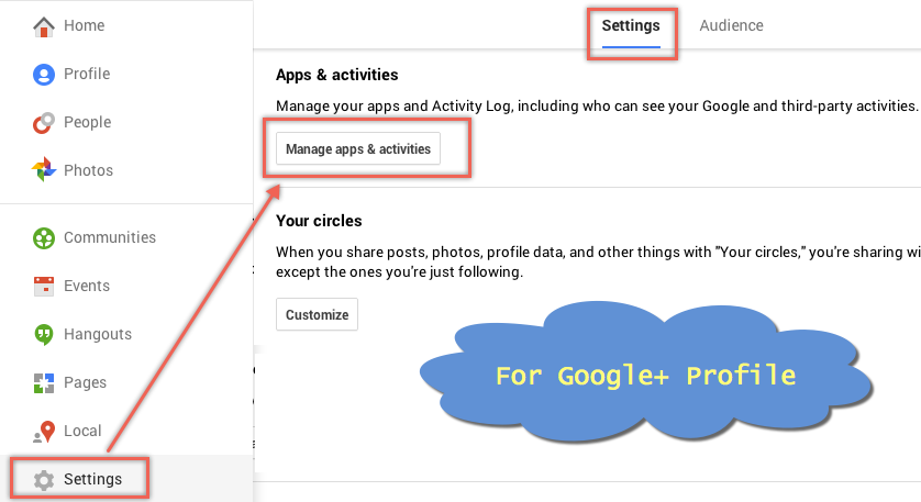 Google+ Profile Settings