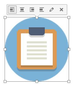 Панель инструментов встроенного изображения в WordPress 4.1