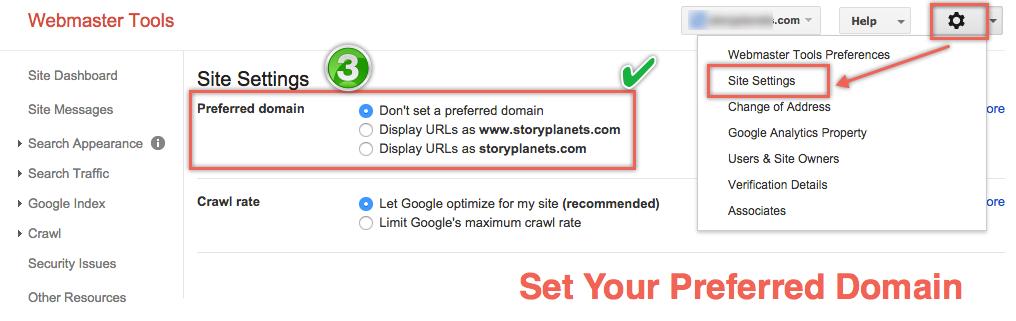 Установка предпочтительного домена