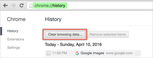 Viewing History in Chrome