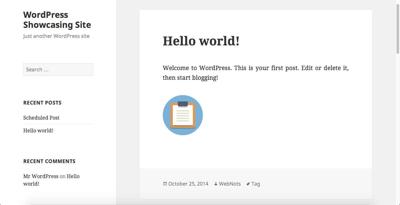 Тема WordPress Twenty Fifteen