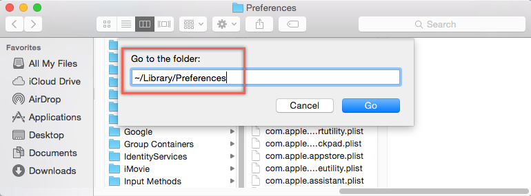 Delete Safari Preferences File