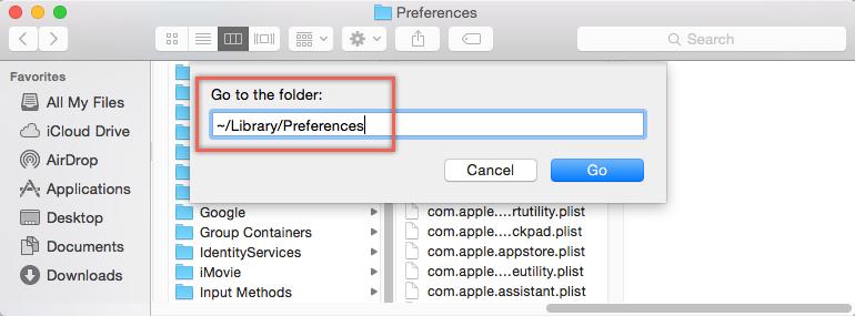 Delete Safari Preferences File