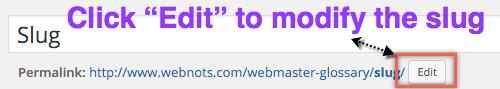 Изменение слага в WordPress