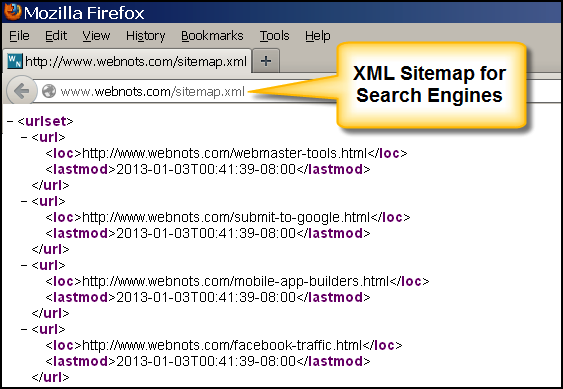 XML Sitemap for Search Engine Navigation
