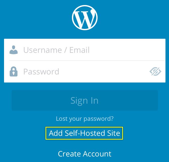 Adding Site in WordPress iOS App