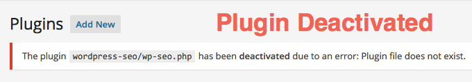 Plugin Deactivated