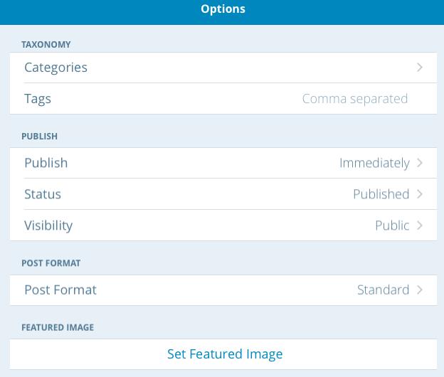 Post Editing Options