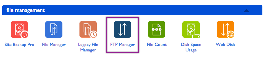 Bluehost File Manager Option