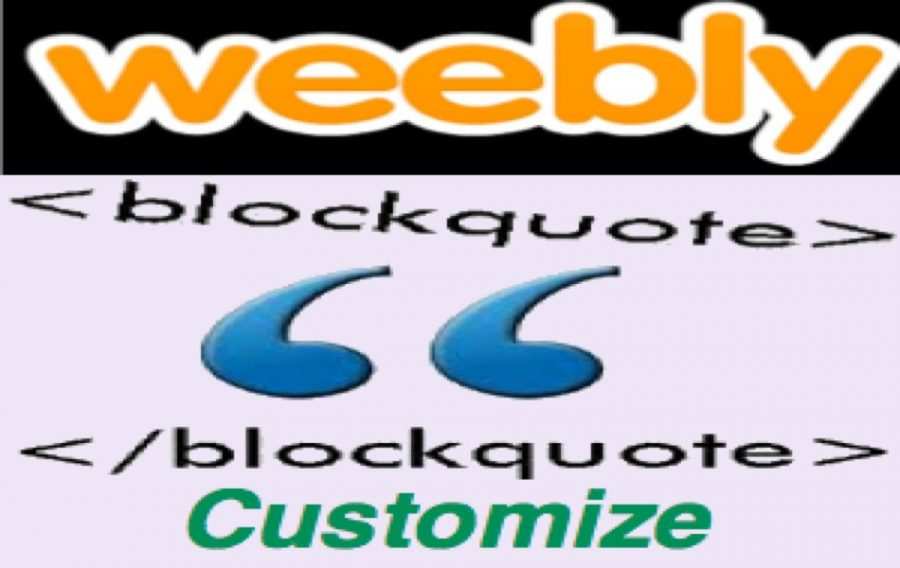 Customizing Weebly Block Quote Element