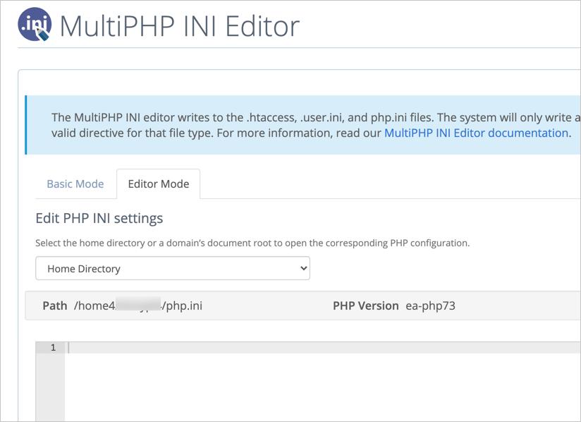 Edit php INI File