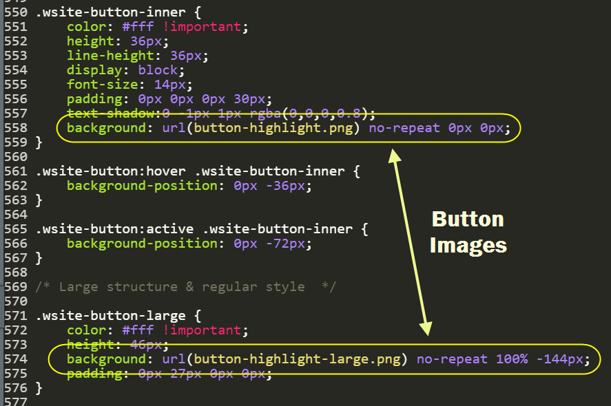 Images Used for Buttons on Non-Responsive Themes
