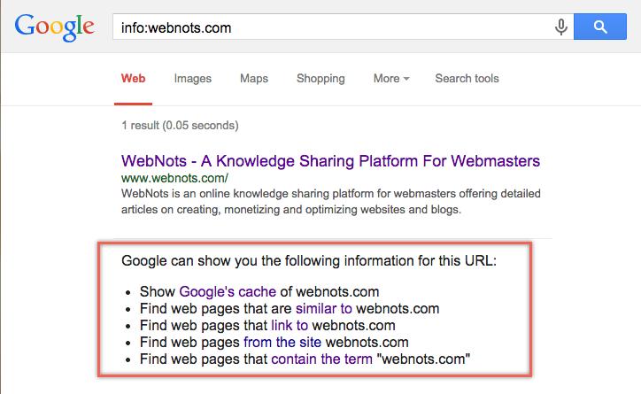 Info: Google Search Operator