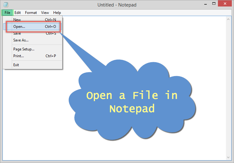 Opening a File in Notepad