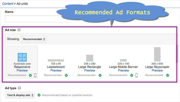 Recommended AdSense Ads