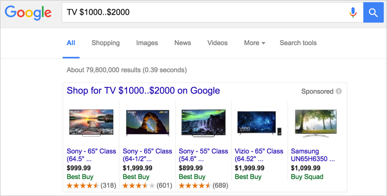 Using Ranges in Google Search