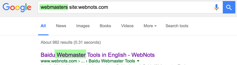 Using Site Search Operator in Google