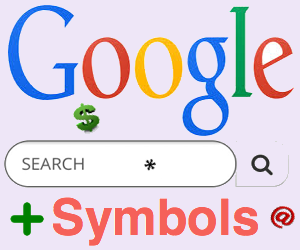 Using Symbols in Google Search