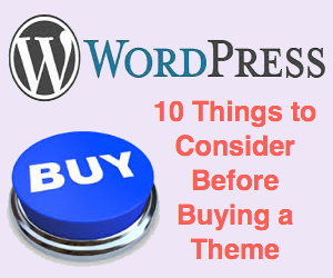 10 Things You Should Consider Before Buying a WordPress Theme