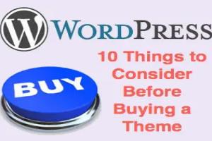 10 Things to Consider Before Buying WordPress Theme