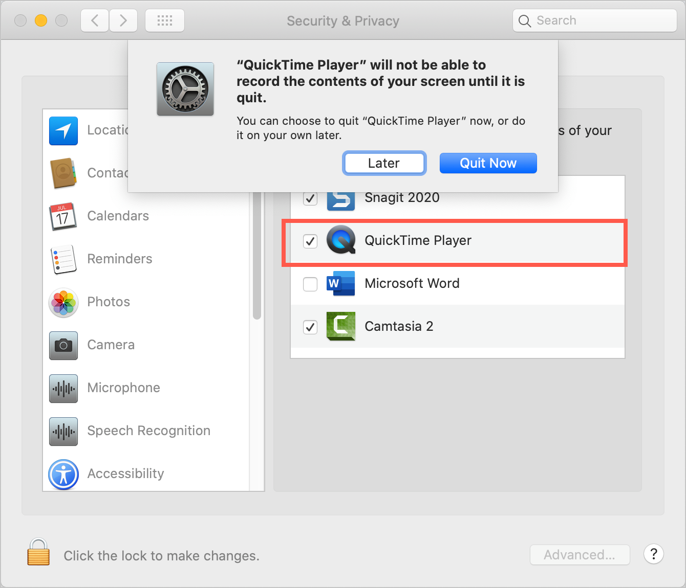 Add QuickTime Player for Access