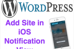 Add WordPress Site iOS Notification View