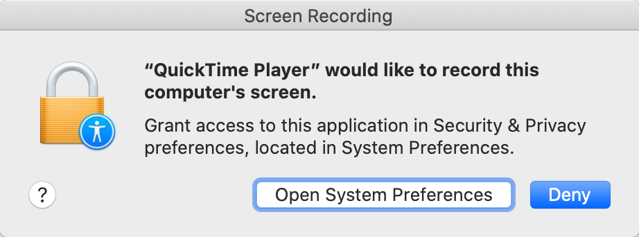 Allow QuickTime Player